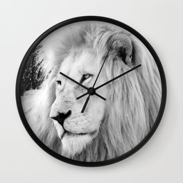 White Lion Male Portrait Wall Clock