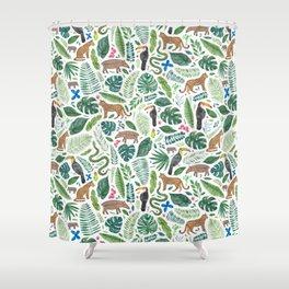 Jungle/Tropical Pattern Shower Curtain