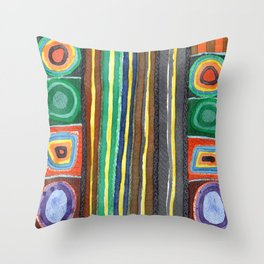 Symmetrical Bordered Stripes Throw Pillow