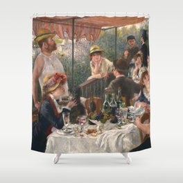 Auguste Renoir - Luncheon of the Boating Party (Le déjeuner des canotiers) Shower Curtain