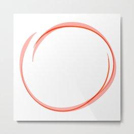 Orange Ring Metal Print