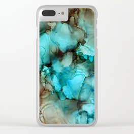 Tidepools 1 Clear iPhone Case