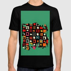 Living in a box Mens Fitted Tee Black MEDIUM