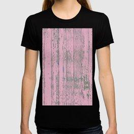 old pink wood wall T-shirt