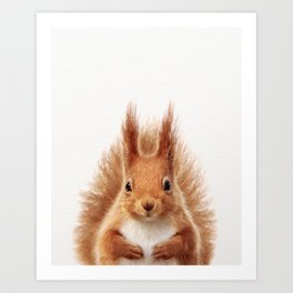Baby Squirrel, Baby Animals Art Print By Synplus Art Print