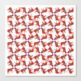 Graphic Dala Elk Pair Multiples Canvas Print
