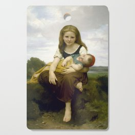 William Bouguereau - The Elder Sister, 1869 Cutting Board