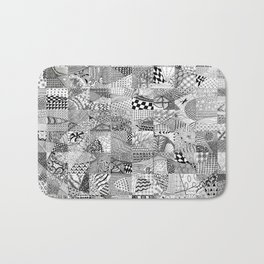 Doodling Together #1 Bath Mat