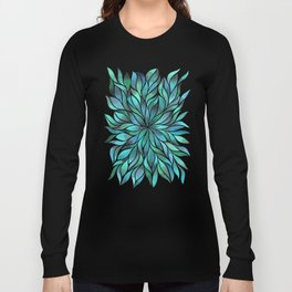 Floral Vines - Blue Green Long Sleeve T-shirt
