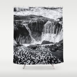 Thor's Well, No. 3 bw Shower Curtain