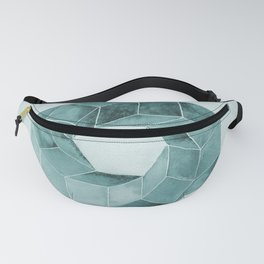 Watercolor Green Impossible Polyhedron Fanny Pack