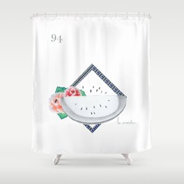 La Sandía from the series Lotería Shower Curtain