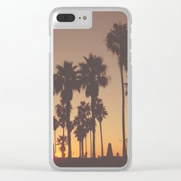 Venice Beach Sunset Clear iPhone Case