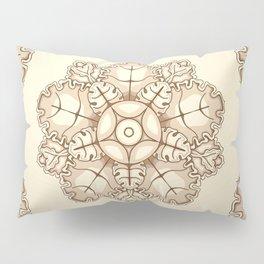 Beige elegant ornament fretwork Baroque style Pillow Sham