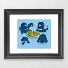The mystery of Easter Island Framed Art Print