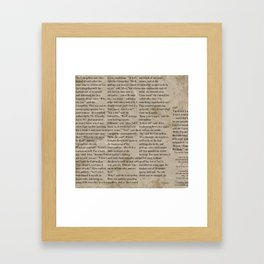 Alice and the Hookah Smoking Caterpillar  Framed Art Print