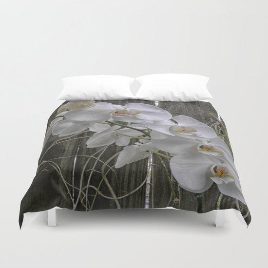 White Moth Orchid Duvet Cover