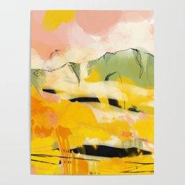 landscape abtract - paysage jaune Poster