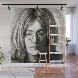 John in Black and White Wall Mural