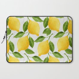 Watercolor Lemons Laptop Sleeve