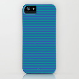 Even Horizontal Stripes, Teal and Indigo, XS iPhone Case