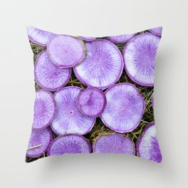 Purple Daikon Throw Pillow
