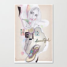 Hello, beautiful! Canvas Print