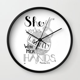 Crochet Willingly, Crochet Quote Wall Clock