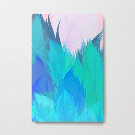 After The Rain Aqua Blue Metal Print