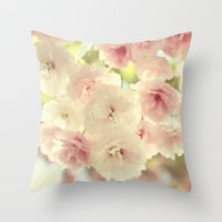grace Throw Pillows featuring grace by Sylvia Cook Photography
