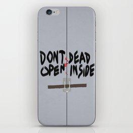 Don't Open Dead Inside, Walking Dead  iPhone Skin