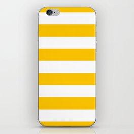 Aspen Gold Yellow and White Wide Horizontal Cabana Tent Stripe iPhone Skin