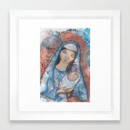 Mary by patsy paterno Framed Art Print