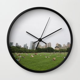 Sheep Meadow, Central Park, NYC Wall Clock