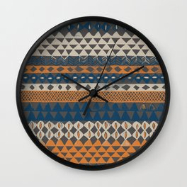 Hand-Painted Ethnic Pattern Wall Clock