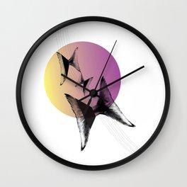 Flying tales — color circle yellow-pink Wall Clock