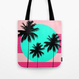 Hello California - Sunset Palms Tote Bag