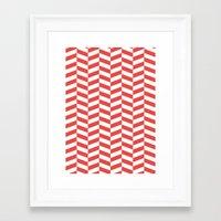 herringbone Framed Art Prints featuring Herringbone. by Jake  Williams