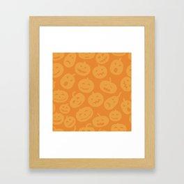 Orange Jack-O-Lanterns Framed Art Print
