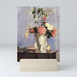 Bouquet Of Flowers 1873 By Camille Pissarro | Reproduction | Impressionism Painter Mini Art Print