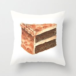 Chocolate Cake Slice Throw Pillow