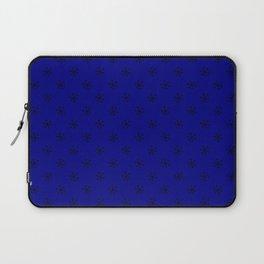 Black on Navy Blue Snowflakes Laptop Sleeve