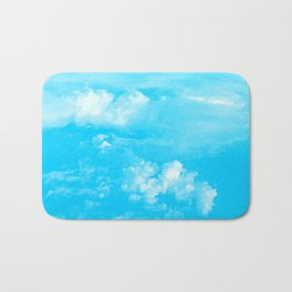 Aerial Turquoise Clouds Bath Mat
