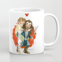 the hobbit Mugs featuring Hobbit Hug by Super Group Hugs