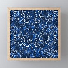 Whale Shark Skin (Blue and White Color) Framed Mini Art Print