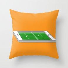 Tennis on an iPhone Throw Pillow