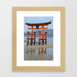 The Gate of Itsukushima Shrine Framed Art Print