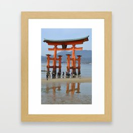 The Gate of Itsukushima Shrine Framed Art Print