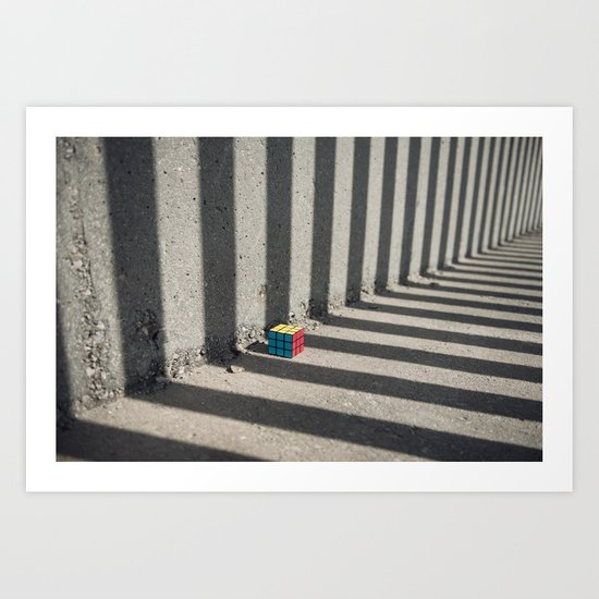 Rubik shading stripes Art Print