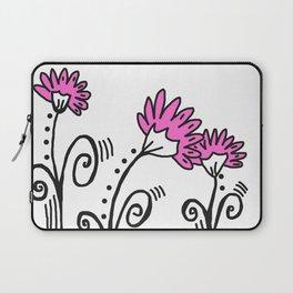 Three Spring Flowers - Pink Laptop Sleeve